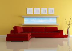 fashion modern living room - stock illustration