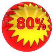eighty percent ball - stock illustration
