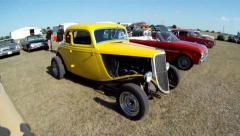 Row of Hot Rods Stock Footage