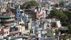 India Rajasthan Udaipur city view with balcony variations 7 Stock Footage