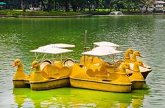 duck look-alike boat - stock photo