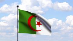 Animated Flag of Algeria - stock footage