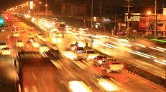 Intersection crossroads traffic jam time lapse Stock Footage