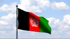 Animated Flag of Afghanistan Stock Footage