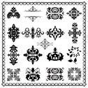 Decorative design elements (black) Stock Illustration
