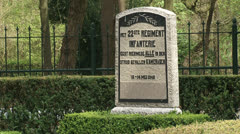 Monument 22nd Regiment Infantry at Military War Cemetery Grebbeberg Stock Footage
