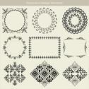 Decorative design elements Stock Illustration