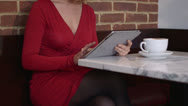 Stock Video Footage of Two women sitting in cafe