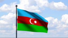Animated Flag of Azerbaijan Stock Footage