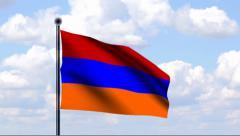 Animated Flag of Armenia - stock footage