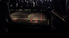 Sound mixer at concert at work Stock Footage