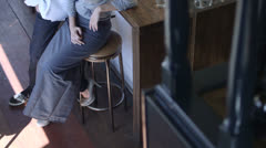 Business owners of cafe/restaurant portrait Stock Footage