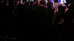 Concert Party Stage Dancing Cheering Stock Footage