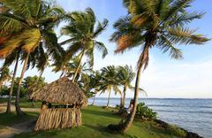 las galeras beach, samana peninsula - stock photo