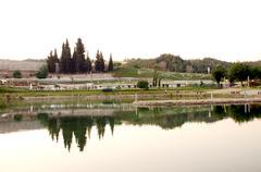 Landscape of Pamukkale, Turkey, - stock photo