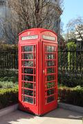 Traditional Red Phonebox in London - stock photo