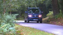 Modern VW T5 California in the New Forrest Stock Footage