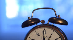 alarm clock rings - stock footage