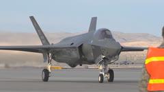 Arrival of F-35 Lightning II Nellis AFB Stock Footage