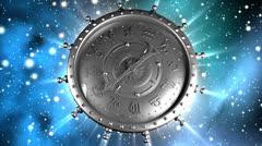 Silver Zodiac Machine and Stars Stock Footage