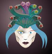 medusa head - stock illustration