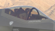 Stock Video Footage of Arrival of F-35 Lightning II Nellis AFB