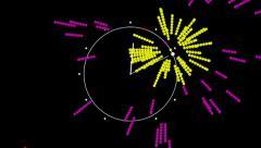 Message Recording Clock. Stock Footage
