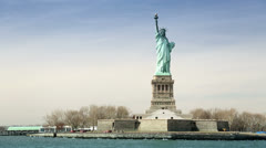 Statue of Liberty, New York - stock footage