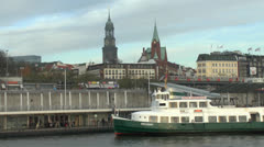 St. Michaelis Church alias Michel, Hamburg, Germany Stock Footage