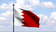 Animated Flag of Bahrain Stock Footage