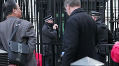 Downing St Guarded Stock Footage
