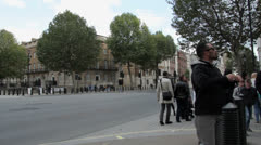 Downing St Pan Stock Footage