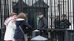 At the Gates Downing St Stock Footage