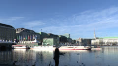 Alster Hamburg - heart of the city Stock Footage