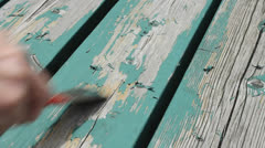 Scraping paint Stock Footage