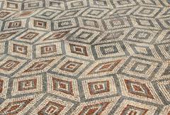 Mosaic in the roman ruins of conimbriga Stock Photos