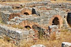 roman ruins in conimbriga - stock photo