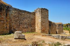 great wall of conimbriga - stock photo