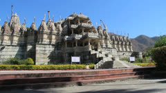 India Rajasthan Ranakpur Jain temple numerous domes 23 Stock Footage