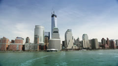 Panoramic View of Manhattan seen on City Tour, New York Stock Footage