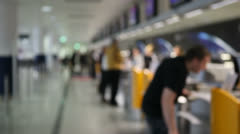 Airport check-in Stock Footage