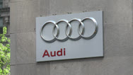 Stock Video Footage of Closeup of Audi sign