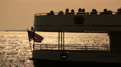 Boat Tour in New York Stock Footage