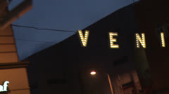 Venice Beach Sign, Tracking Shot - stock footage