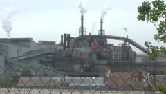 factory in the rust belt - stock footage