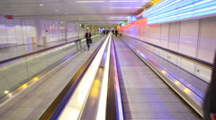 Munich Airport walkway Stock Footage