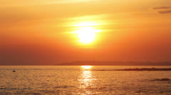 Timelapse sunset with clouds over sea Stock Footage