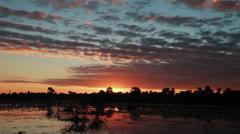 Sunrise over the lagoon - stock footage