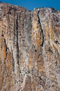 towering cliff - stock photo
