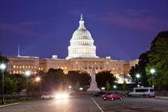 Stock Photo of us capitol in the night